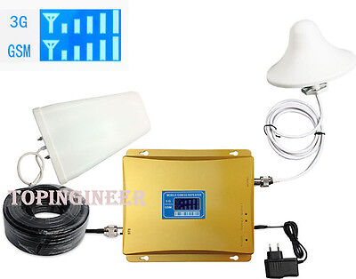 Kit Amplificatore Ripetitore Segnale GSM UMTS 3G Doppia Banda 900MHz 2100MHz