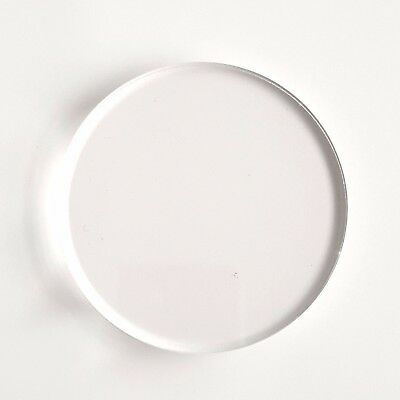 "50 Clear Circle Acrylic 3"" Blank Discs 1/16"" Thick Round Shapes Acrylic Shapes"