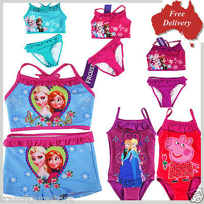 swimmer Girls kids FROZEN Elsa and Anna pool beach bather swimming suit size 2-8