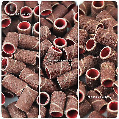 "200pcs x Sanding Bands For Electric Nail Drill Bit Sandpaper (80"" / 120"" / 180"")"