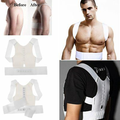Magnet Back Posture Correction Shoulder Corrector Support Brace Belt Therapy Men