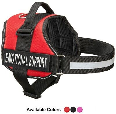Service Dog Vest Harness with 2 Reflective MATCHING Removable Patches USA SELLER