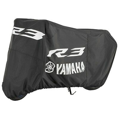 Yamaha YZF-R3 Motorcycle Cover in Black w/ Logo-Fits 2015 - 2018-Genuine Yamaha