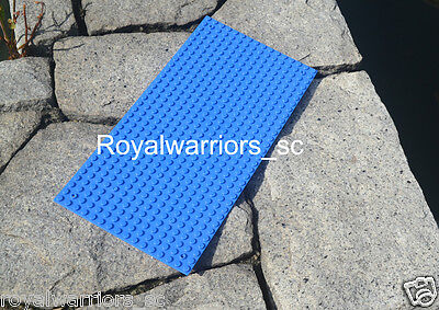 x3 Blue Base plate for Lego building brick baseplate compatible 16x32 Dots Pin