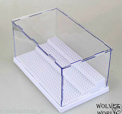 White Big Display Case box for Lego building Minifigure Assemble decoration box