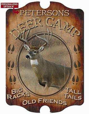 Deer Camp Wall Sign - Personalized