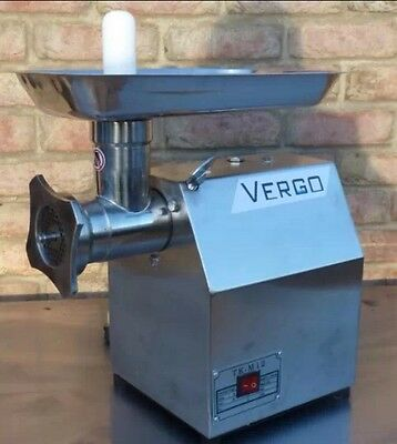 Vergo COMMERCIAL BUTCHERS MEAT GRINDER MINCER 120kg P/h Production, 12qrt,