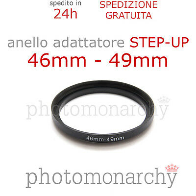 Anello STEP-UP adattatore da 46mm a 49mm filtro - STEP UP adapter ring 46 49 mm
