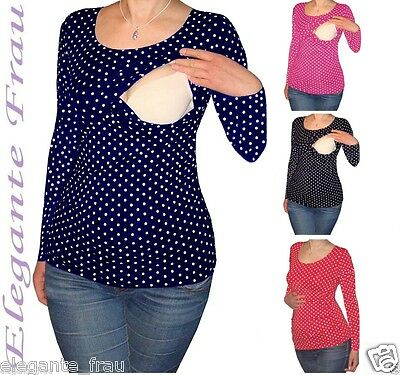3 in1 Stillshirt Umstands Shirt LANGARM,Tunika Stilltop Stillbluse f. Leggings !