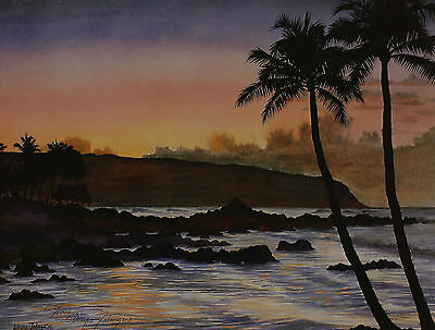 Signed Wayne Jakazono - Coast by the sea Southern Landscape