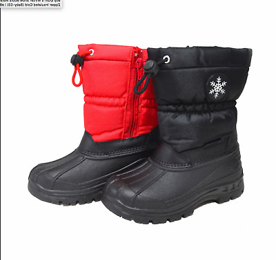 Boy's/Girl's Winter Snow Boots Water Resistant Zipper Insulated Cold (Baby-03)