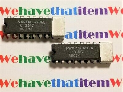UPC1316C / PART MARKED C1316C / IC / DIP / 2 PIECES (qzty)