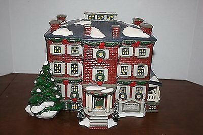 Dept 56 Snow Village Old Chelsea Mansion Christmas Clement Moore