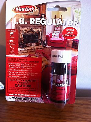 Insect Growth Regulator(IGR) control roaches, fleas Martin's nylar, fogger use