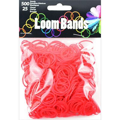 Loom Bands 500/Pkg W/25 Clasps Red LB506-12