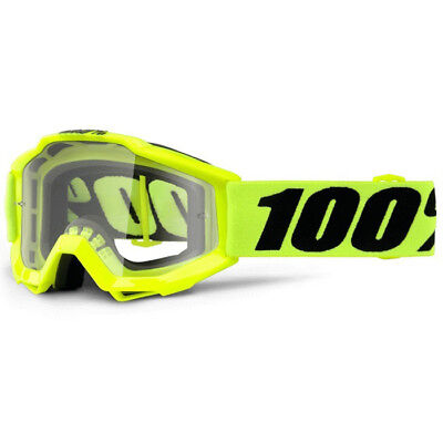 100% Percent NEW Youth Mx Accuri Fluro Yellow Dirt Bike Kids Motocross Goggles
