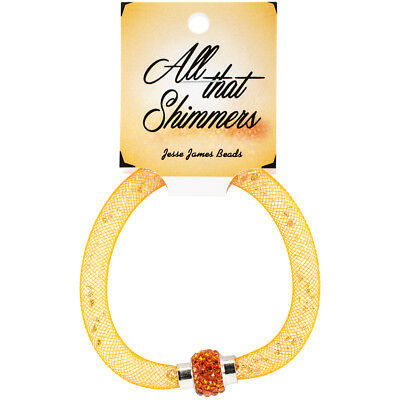All That Shimmers Ready Made Bracelets Orange CRYMESH-8389