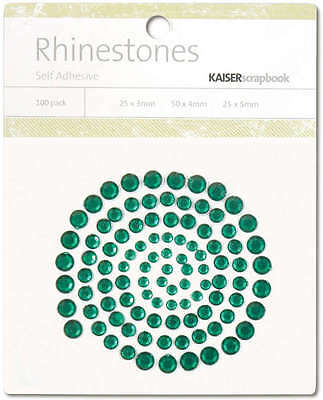 Self Adhesive Rhinestones 100/Pkg Dark Green SB708