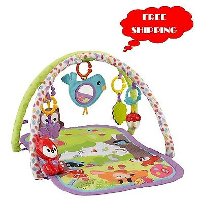 Baby Activity Gym Play Mat Fisher Price Musical Toy Soft Blanket Foam Floor Game