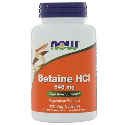 Betaine HCl - 648mg x120caps