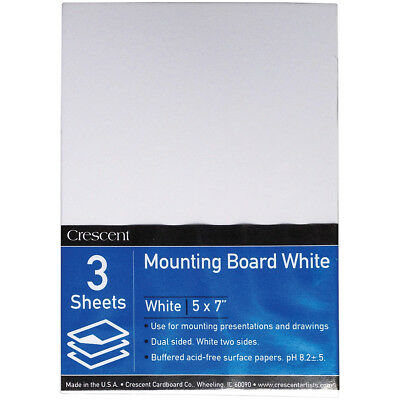 "Crescent White Mounting Board Value Pack 3/Pkg 5""X7"" X-0507"