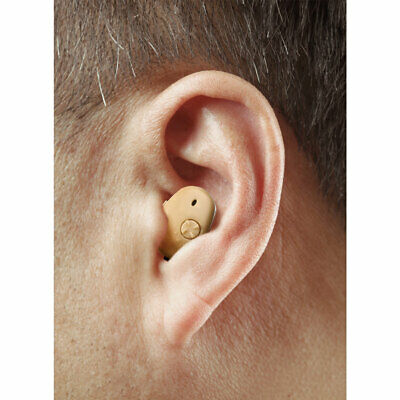 High Definition In-Ear Hearing Aid - 2 pack - Rechargeable - Nearly Invisible