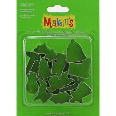 Makin's Clay Cutters 12/Pkg Christmas 37051