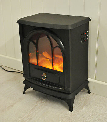 Kingfisher Cast Iron Wood Burner Effect Electric Stove