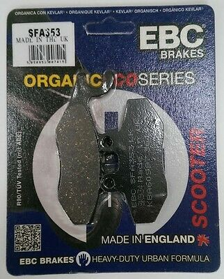 Vespa GTS300 (2008 to 2015) EBC Organic FRONT Disc Brake Pads (SFA353) (1 Set)