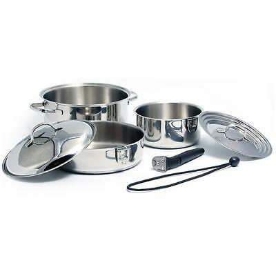 Kuuma 7-Piece Stainless Steel Nesting Cookware Set - Induction Compatible