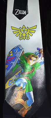 L@@K! Link and the Triforce Legend of Zelda - Satin  Neck Tie