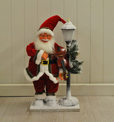 Animated Father Christmas 60cm Figure with Violin by Westwoods Xmas Decoration