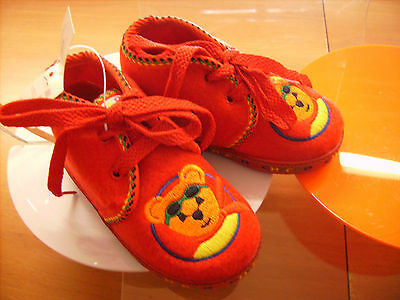 Scarpe shoes pantofole inverno bambino CHICCO NR. 19 rosso natale nuove!