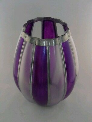 Hand painted and leaded Purple Humbug vase by Bilbo