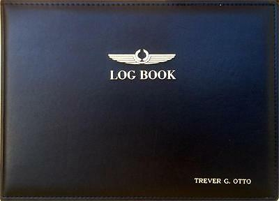 Personalized Commercial Pilot Logbook Binder-- w/200 Sheets Paper