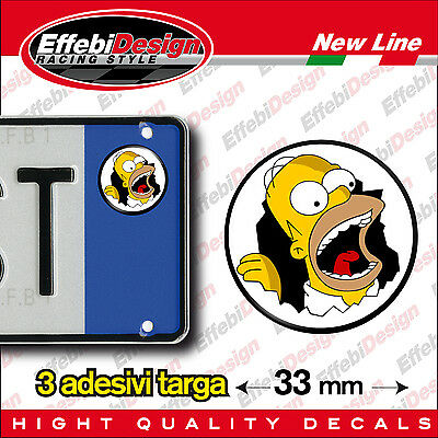 Adesivi/Sticker bollino targa/plate SIMPSON homer lisa bart maggie marge cartoon