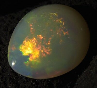 Australian Coober pedy Solid Natural Genuine Fire Opal 1.5 Carats SEE VIDEO