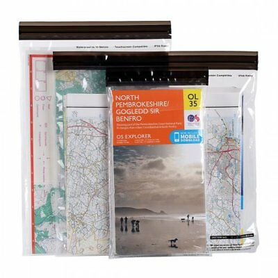 Lifeventure DriStore LocTop Waterproof Bags - Pack of 3 Map Cases