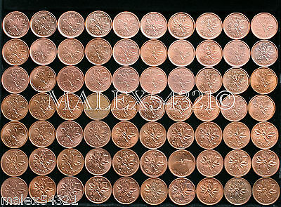 Canada 1953 To 2012 1 Cent Red/brow Au (72 Coins)