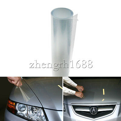 "12"" x 48"" Clear Bra Headlight Bumper Hood Paint UV Protection Film Vinyl Sheet"