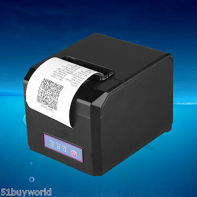 USB Ethernet Thermodrucker Bondrucker 300mm/s AUTO-CUT ESC/POS Kassendrucker DE