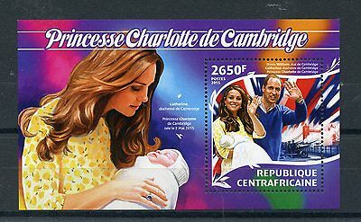 Central African Republic 2015 MNH Birth Princess Charlotte Royal Baby 1v S/S