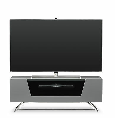 Alphason New Alpha Chromium 1000 Grey Gloss TV Stand CRO2-1000CB-GRY