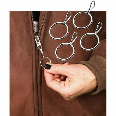 Easy to Grab & Hold Metal Zipper Pulls for Little or Arthritic Hands - Set of 18