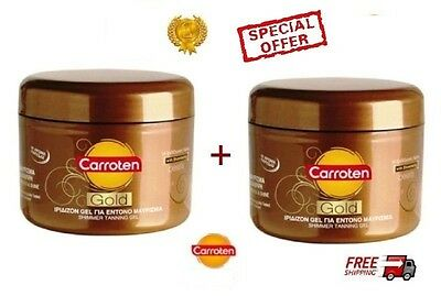 2xNEW CARROTEN FAST TAN INTENSIVE GOLD TANNING GEL 2x150ml NO SPF NEW PRODUCTION