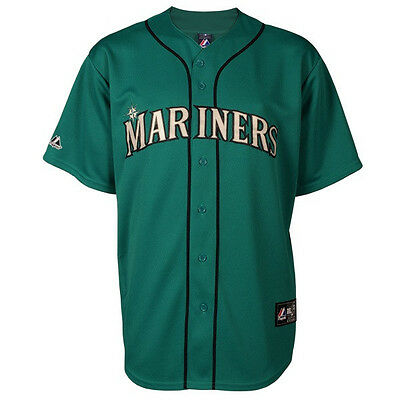 MLB Baseball Trikot Jersey SEATTLE MARINERS mint - von Majestic