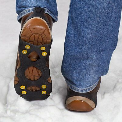 Rubber Shoe Ice Grips Anti Slip with 8 Studs for Traction on Ice and Snow