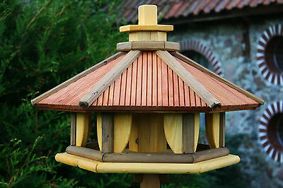Deluxe Bird Table Feeder Feeding Station Wooden made in EU