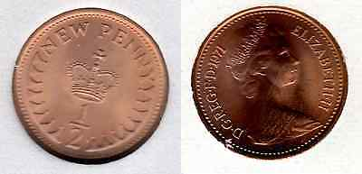 1971 ½p UNCIRCULATED Half Pence Queen Elizabeth II GB Royal Mint (b)