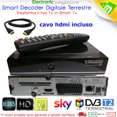 Decoder Per Visione Hd Full Hd Lettore Card Per Digitale Terrestre